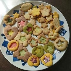 キラキラ/キレイ/子供/手作り/おやつ/ステンドグラス/... 5歳娘と一緒に、おやつにキレイなクッキー…