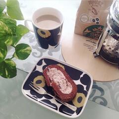 マリメッコ ウニッコ マグ 250ml ブラック marimekko UNIKKO | marimekko(マグカップ)を使ったクチコミ「大好きなマリメッコのマグカップとお皿♡ …」