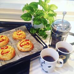 手作りパン/お茶/ティータイム/ウニッコ/マリメッコ/食器/... お気に入りのマリメッコのマグカップ♡ 色…