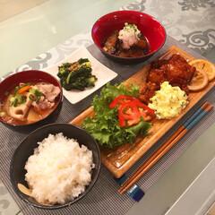 一汁三菜/和食器/食器/ニトリ/おうちごはん わが家の食器。 和食器が好きです♡ 長方…