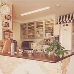 DIY/100均/セリア/ダイソー/生活雑貨/キッチン 中古で買ったマンションを暖かみのあるカン…