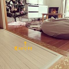和室DIY/子供部屋/DIY/暮らし 見切り材を使ってウッドカーペットの段差を…