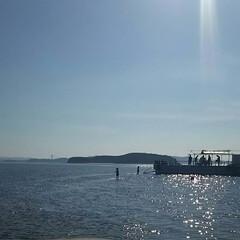 干潟/海/海の上を歩く/潮干狩り/干潮/夏休み/... まるで海の上を歩いているような瞬間☆  …