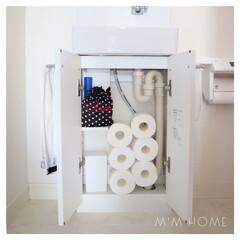 持たない暮らし/断捨離/トイレ収納/収納/掃除  〈 トイレ収納 1階 〉  我が家のト…
