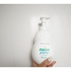 クラシエ ナイーブピュア 泡ボディソープ ジャンボ 550ml(ボディソープ)を使ったクチコミ「 ボディソープは手のひら洗い☺︎  子ど…」