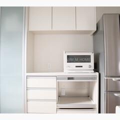 キッチン収納/炊飯器スペース/シンプルな暮らし/ホワイトインテリア/炊飯器/収納  キッチンには炊飯器を置く為の 専用の場…