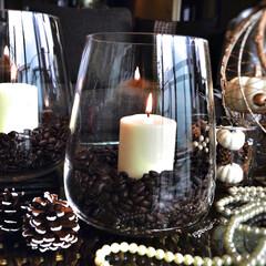 アロマキャンドル/キャンドル/コーヒー/コーヒー豆/IKEA/リラックス 見ためだけじゃない👀香りも楽しめるキコー…