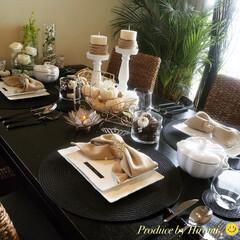 テーブルコーディネイト/IKEA/ハロウィン/100均/ダイソー/インテリア/... 週末の女子会 おもてなしテーブルコーディ…