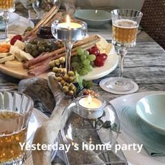 チーズボード/テーブルセッティング/テーブルコーディネート/ホームパーティ/イケア/フード/... Yesterday's home par…