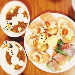 料理 冬はオラフカレーで、楽しいご飯に^ - ^