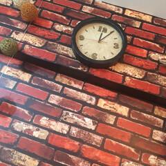 リメイク/男前インテリア/ヴィンテージ風/DIY/壁掛け時計/手作り/... 時計を分解して、リメイクしました.。゚+…