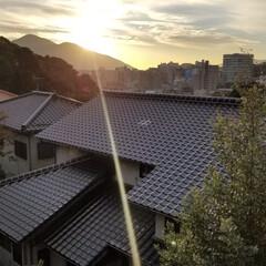 写真撮影/朝陽/風景 我が家に朝陽が🎵  なんかいいことありそ…
