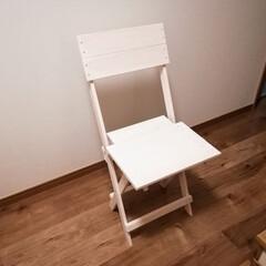 折り畳み/チェア/椅子 /スノコ/すのこ/DIY ホームセンターで購入したすのこから、折り…