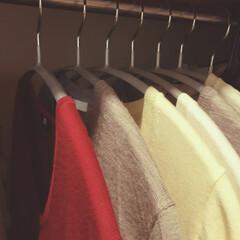 雑貨/ニトリ/収納/おでかけ/ファッション/カットソー/... たたまない収納は洗濯物を干す時から始まっ…