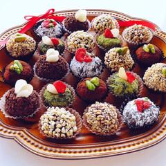 手作りチョコレート/バレンタイン/バレンタインデー/バレンタイン2020/キャンドゥ/ダイソー/... 手作りトリュフ♡