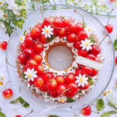 リースタルト/チーズケーキ/チーズケーキタルト/手作りケーキ/誕生日ケーキ/誕生日/... 2020/7/5  夫の誕生日ケーキ♪ …