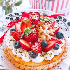 いちごタルト/バースデーケーキ/誕生日ケーキ/クリスマス2019/リミアの冬暮らし/我が家のテーブル/... 2019/12/1  いちごタルト♪