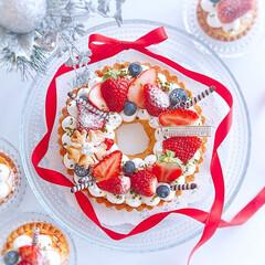 リースタルト/誕生日ケーキ/いちごタルト/クリスマス2019/リミアの冬暮らし/我が家のテーブル/... 2019/12/1  こちらも… いちご…