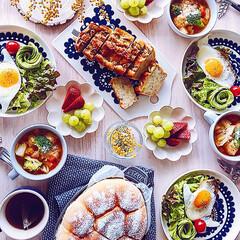北欧食器/北欧/LIMIAごはんクラブ/わたしのごはん/おうちごはんクラブ/グルメ/... 週末朝ごはん♪ staubで焼いたちぎり…