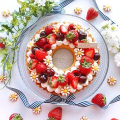 フルーツタルト/リースタルト/チーズケーキ/チーズタルト/誕生日ケーキ/手作りケーキ/... 2020/5/31  息子の誕生日ケーキ…