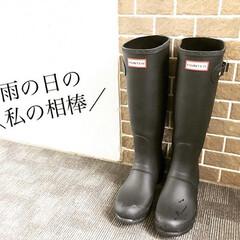 ママコーデ/レイングッズ/雨/レインブーツ/Hunter 今日はこれから明日の朝にかけて、雨が酷く…(1枚目)