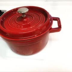 掃除/キッチン/オキシ漬け/オキシクリーン お気に入りのStaubのお鍋の焦げ付きが…