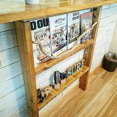 ブックシェルフ/本棚/2×4材/DIY/インテリア 残ってた2×4材で ブックシェルフ作りま…