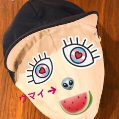 子供/息子/帽子/娘/イタズラ/懐かしい/...  子供の帽子にちょいイタズラ(笑)  昔…