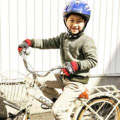 息子/自転車/お古/練習/お姉ちゃん/新幹線/... おはようございます。  良い天気だとそれ…