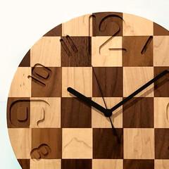 時計/雑貨/小物/インテリア/無垢/おしゃれ/... この時計を見るたびに『チェス』を思い出し…