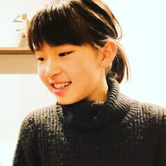 娘/子供/前髪/ぱっつん/うまく出来た 娘の前髪を切ってみましたー。  今回はう…