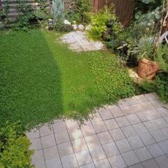 庭/庭作り/グランドカバー/クラピア/ジョイントタイル/植栽/... 土しかなかったところを、一から手掛けたお…