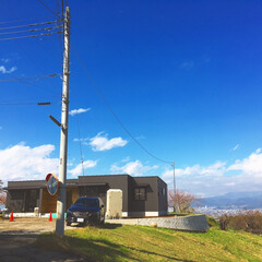 平屋/良い天気/見学会/ガルバ 平屋の家