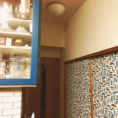 リメイクシート リビングダイニングと和室に面した戸襖です…