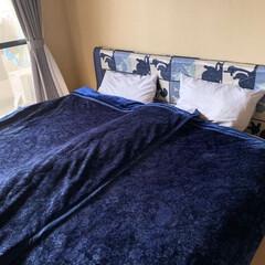 ラグ/ベッドルーム/寝室/ヘッドボード/ベッド/襖/... お客様宅アフター。押入れを使いやすくする…
