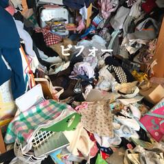 バービースタイル(愛知の整理収納ア.../整理収納アドバイザー/収納/衣類/和室/片付け/... お客様宅の和室。沢山の衣類が溢れていまし…