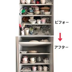 ゴールデンゾーン/コップ/食器/食器棚収納/収納/キッチン/... みんなにオススメしたい 食器棚の整理収納…