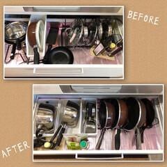 鍋蓋収納/鍋蓋/キッチン収納/キッチン雑貨/収納/キッチン/... キッチンの整理収納です。  お仕事の関係…