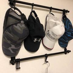 バービースタイル/帽子収納/キャップ収納/収納/暮らし/住まい キャップの収納。これから暑くなるので、帽…
