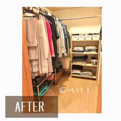 整理収納アドバイザーバービースタイル/衣類収納/畳む/掛ける収納/クローゼット/クローゼット収納/... クローゼットのお片付け作業   片側に掛…(2枚目)