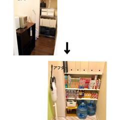 スチールラック/家具/リフォーム/収納 我が家のリビング収納庫。 入居時はガラー…