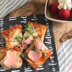 子ども/ピザ/おうちごはん/おウチカフェ/ピザトースト/limiaキッチン同好会/... 「時間があるから、 自分で朝ご飯作るよ❣…