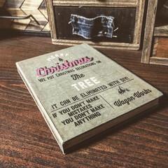 ブック型ボックス/wagonworks/レシート入れ/ブック型収納/DIY/100均/...