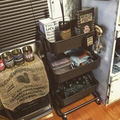 リメ缶/裁縫箱/アイロン収納/掃除道具/ステンシル/DIY/...