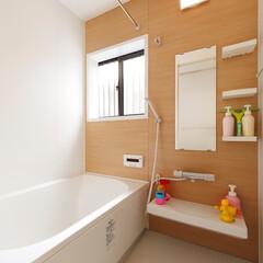 お風呂/風呂/バス/浴室/ユニットバス 浴槽や棚の造作に加え、壁と床材を変更し、…