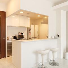キッチン/システムキッチン 室内の雰囲気を統一するため、カウンターの…