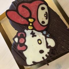 誕生日飾り/誕生日ケーキ/手作りケーキ/ケーキアイデア/クリスマスケーキ/チョコペン/... 子供達大喜び♪キャラチョコを作っておうち…