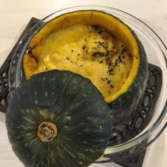 グラタン/かぼちゃ/おもてなし料理/ハロウィン料理/ハロウィンパーティー/ハロウィン/... ハロウィンパーティー料理に♪ 丸ごとかぼ…