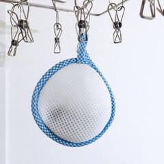 洗濯マグちゃん ピンク2個 お得セット(固形洗剤)を使ったクチコミ「室内干しに便利な洗濯マグちゃん。 入れる…」