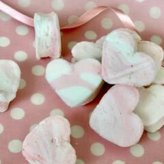 バレンタイン/バレンタインラッピング/バレンタインレシピ/バレンタイン2020 バレンタインレシピ♡手作りふわふわマシュ…